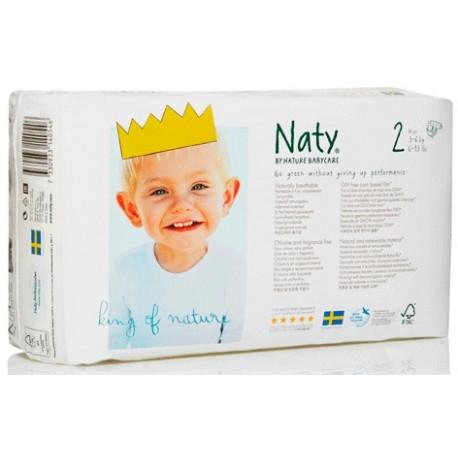 Pañales Nº 2 (3-6 Kgs) 34 Unid (Naty)