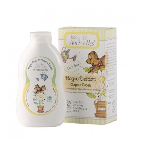 Gel de Baño y Champú Delicado con Proteínas de arroz 400 Ml (Anthyllis)