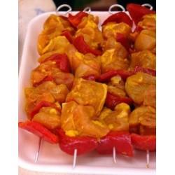 Brocheta Amarilla de Pollo con Pimiento , Pack 0,400 Kg (Madrygall)
