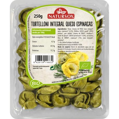 Tortelloni Integrales con Queso y Espinacas 250 Gr (Natursoy)