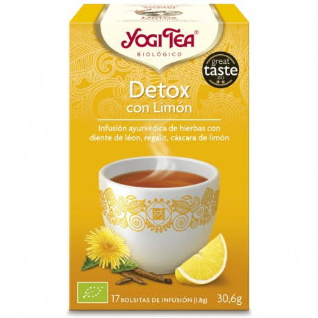 Yogi Tea Detox con Limón 17 x 1.8 Gr (Yogi Tea)