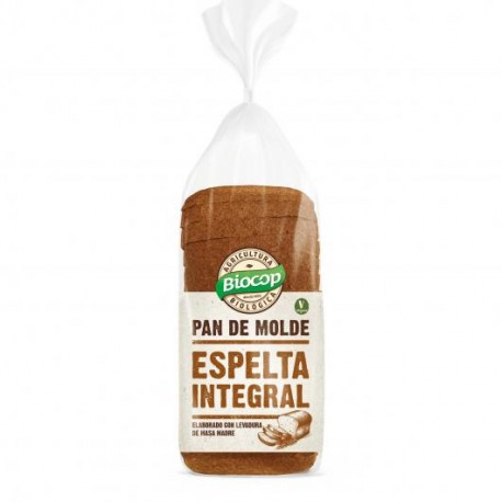 Pan de Molde de Espelta Integral 400 Gr (Biocop)