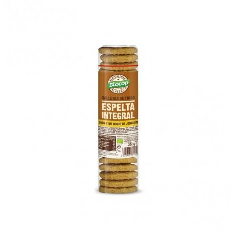 Galleta de Espelta Integral con Limón y Jengibre 250 Gr (Biocop)