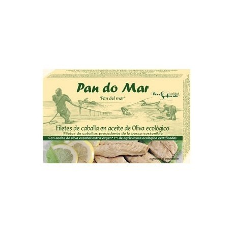 Filetes de Caballa en Aceite de Oliva 120 Gr (Pan do mar)