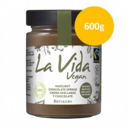 Crema de Chocolate con Avellanas Vegana 600 Gr (La Vida Vegan)