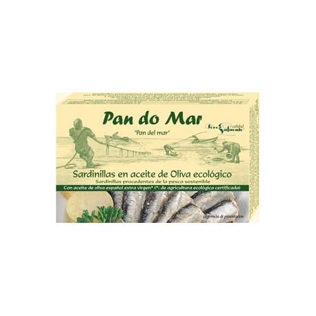 Sardinillas en Aceite de Oliva 120 Gr (Pan do mar)