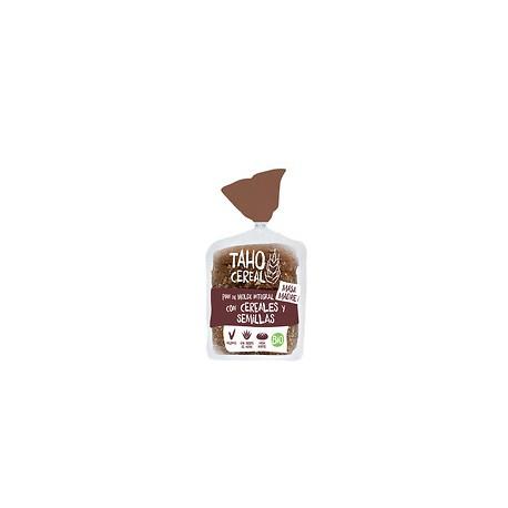 Pan de Molde Integral con Cereales y Semillas con Masa Madre 400 Gr (Taho Cereal)