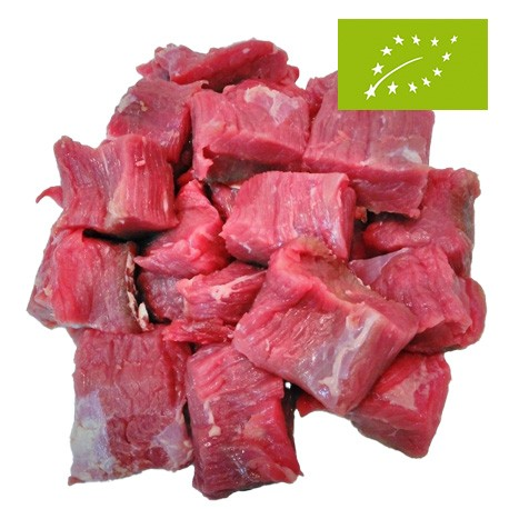 Carne de Ternera Asturiana Ecológica para Guisar, Pack 0,5 Kg (Bioastur)
