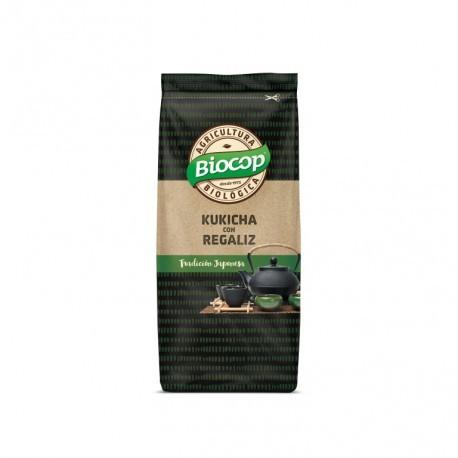 Té Verde Tostado Kukicha con Regaliz 3 años 75 Gr (Biocop)
