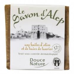 Pastilla de Jabón de Alepo 12% y Laurel 200 Gr (Douce Nature)