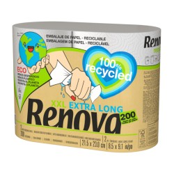 Rollos de Cocina 100% Recycled 2 Rollos (Renova)