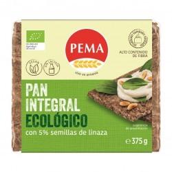 Pan Integral de Centeno 5 % Semillas de Linaza 375 Gr (Pema)