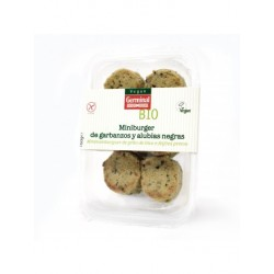 Mini Burguer de Garbanzos y Alubia Negra Sin Gluten 160 Gr (Germinal)