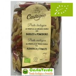 Macarrones de Sémola con Tomate y Albahaca 500 Gr (Castagno)