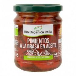 Pimientos a la Brasa en Aceite 190 Gr (Bio Orgánica Italia)