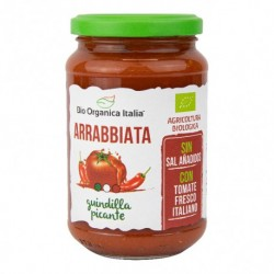 Salsa de Tomate Arrabiata Picante 350 Gr (Bio Orgánica Italia)