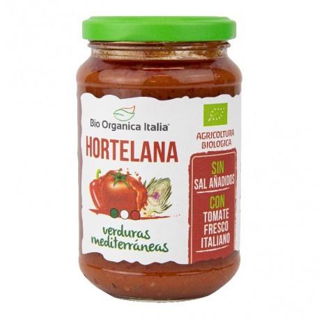 Salsa de Tomate Hortelana con Verduras Mediterráneas 350 Gr (Bio Orgánica Italia)