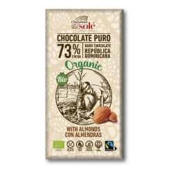 Chocolate Negro 73 % Cacao con Almendras 150 Gr (Solé)