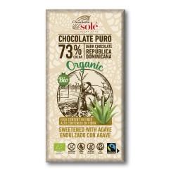 Chocolate Negro 73 % Cacao con Ágave 100 Gr (Solé)