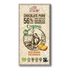 Chocolate Negro 56% con Naranja 100 Gr (Solé)