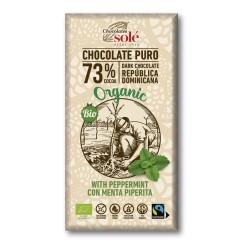 Chocolate 73 % con Menta 100 Gr (Solé)