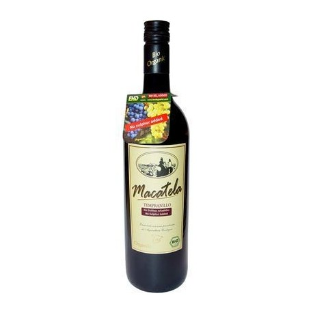 "Vino Tinto ""Sin Sulfitos"" 75 Cl (Macatela)"