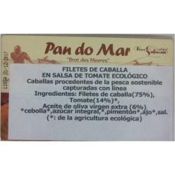 Filetes de Caballa en Salsa de Tomate Ecológico 120 Gr. (Pan do Mar)
